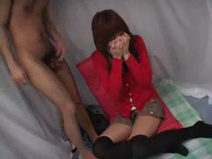 Sweet japanese girl in a cardigan videos