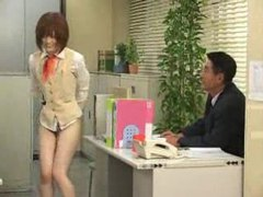Cute japanese office girl is bottomless tubes at japanese.sgirls.net