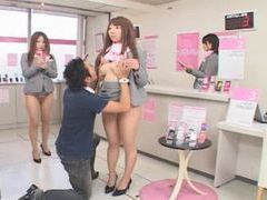 Japanese girls frozen in time and used tubes at lingerie-mania.com