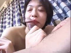 Japanese cocksucker ends up riding a dick tubes at japanese.sgirls.net