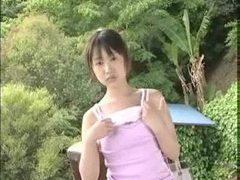 Teenage japanese girl strips outdoors tubes at lingerie-mania.com