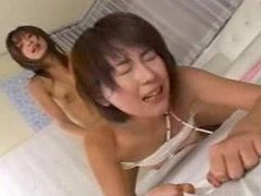 Japanese lesbo taken by a strapon cock movies at adspics.com