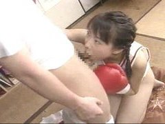 Japanese boxing babe sucking hard dick videos