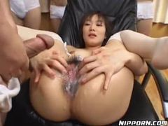 Guys creaming all over her hairy japanese pussy videos