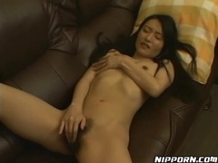 Skinny solo brunette rubs hairy pussy lustily movies at sgirls.net