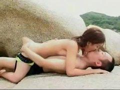 Daring asian couple enjoy outdoor fuck in the mountains tubes at asian.sgirls.net