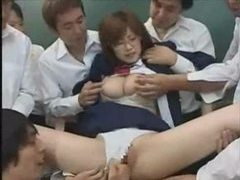 Asian schoolgirl fondled in the classroom tubes at korean.sgirls.net