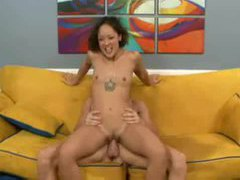 A squirting slender girl fucked by a big cock tubes at sgirls.net