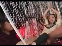 Asian made to cum in a rope swing tubes at korean.sgirls.net