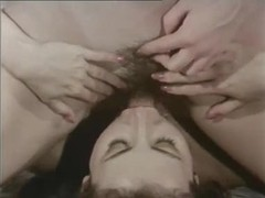 Classic lesbian scene in bathroom with asian tubes