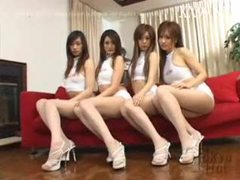 Four asian chicks in an orgy tubes at korean.sgirls.net