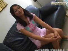 Asian teen in pink panties nailed in her fresh pussy tubes at korean.sgirls.net