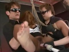 Asian tied suspended and toyed tubes at asian.sgirls.net