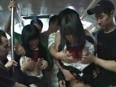 Two shy schoolgirls molested in a bus tubes at sgirls.net