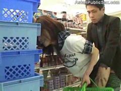 Asian babe fucked in a public store tubes at chinese.sgirls.net