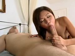 Asian gives him a rub and he fucks her box tubes at find-best-asian.com