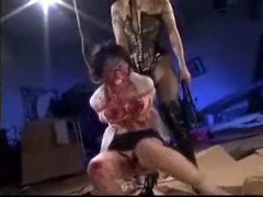 Chick covered in hot wax and whipped by mistress tubes at chinese.sgirls.net
