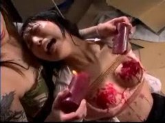Asian screams as wax is dripped on her tubes at chinese.sgirls.net