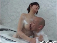 Asian in the bathtub having hot sex tubes at asian.sgirls.net