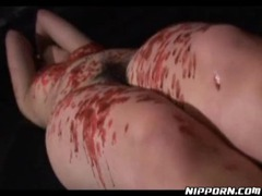 Hot wax dripped on asian in bondage tubes at korean.sgirls.net