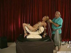 Asian girl is slowly put into painful bondage tubes at chinese.sgirls.net