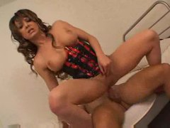 Tranny with huge tits rides her male lovers dick movies at kilotop.com