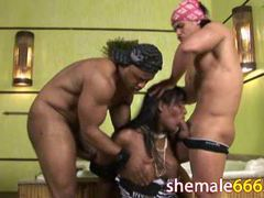 Brunette shemale gangbanged hard movies at kilotop.com