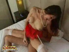 Busty ladyboy titfucking n banged movies at kilotop.com