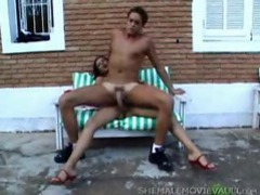 Slim tranny is fucking her man with a big dick videos