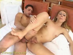 Slim tranny looks good getting fucked hard movies at kilotop.com