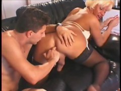 Hot shemale fucking his face and getting her ass fingered videos