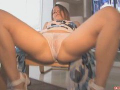 Teen in sheer white panties videos