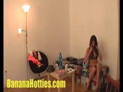Slender amateur babe uses hoolahoop in her panties movies at kilosex.com