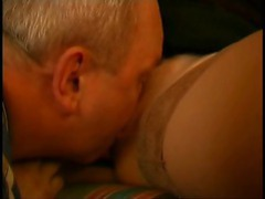 Old dude eating hot young pussy videos