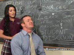Coed fucked in classroom movies at lingerie-mania.com