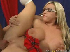Busty schoolgirl in stockings slammed hard movies at kilopills.com