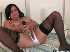 English milfs jessica jay and abigale love masturbating in crotchless knickers videos