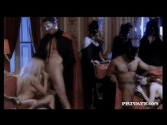 Masked men and women at an oral and fuck party movies at find-best-panties.com