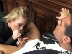 Secretary in pantyhose fucked by her boss tubes