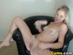 Horny blonde sucks on her dildo hd movies at sgirls.net