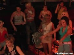 Hot ladies watch the male strippers dance videos