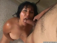 Hot titjob and oral sex with his curvy girl tubes