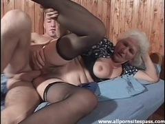 Hairy granny in stockings fucked hardcore videos