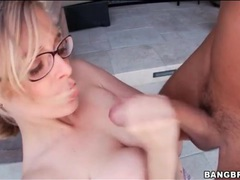 Blue eyed girl in glasses sucks big cock videos