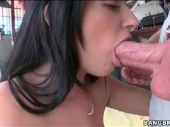 She makes blowjob for a big cock sloppy videos