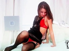 Lean beauty in a pair of black stockings movies at sgirls.net