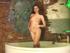 Solo striptease and some hot fun in the hot tub movies at sgirls.net