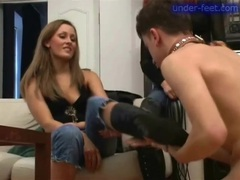 Dominated by women in leather boots tubes