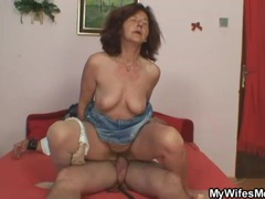 Old redhead sits on hard young boner videos