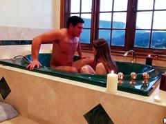 Couple takes a romantic bath together videos